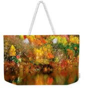 Flaming Autumn Abstract Weekender Tote Bag