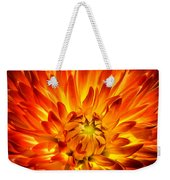 Flaming Dahlia - Paintography Weekender Tote Bag