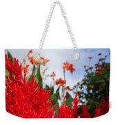 Flaming Feathered Flower Power Weekender Tote Bag