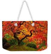 Flaming Maple Weekender Tote Bag