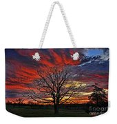 Flaming Oak Sunrise Weekender Tote Bag