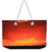 Flaming Ocean Weekender Tote Bag
