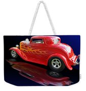 Flaming Roadster Weekender Tote Bag by Gill Billington