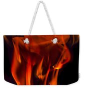 Flaming Rose Weekender Tote Bag