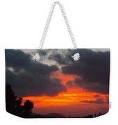 Flaming Sunrise Weekender Tote Bag