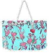 Flamingo A Go Go Weekender Tote Bag