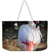 Flamingo In Fuchsia Weekender Tote Bag