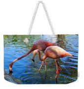 Flamingo Duo Weekender Tote Bag