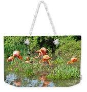 Flamingo Island Weekender Tote Bag
