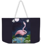 Flamingo Moon Frog Cathy Peek Tropical Bird Weekender Tote Bag