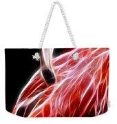 Flamingo Portrait Fractal Weekender Tote Bag