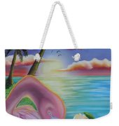 Flamingo Sunset Weekender Tote Bag