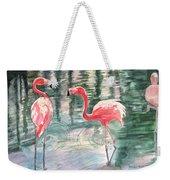 Flamingo Time Weekender Tote Bag
