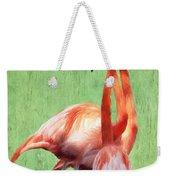Flamingo Twist Weekender Tote Bag by Jeff Kolker