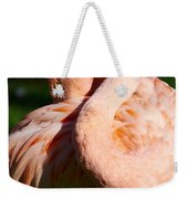 Flamingo Twist Weekender Tote Bag