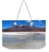 Flamingos At The Altiplano In A Salt Lake Weekender Tote Bag