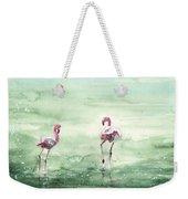 Flamingos In Camargue 02 Weekender Tote Bag
