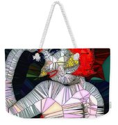 Flapper Girl In Glass Weekender Tote Bag