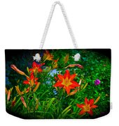 Flashes Of Garden Fire Weekender Tote Bag