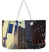 Flat Iron Building Poster Weekender Tote Bag by Nishanth Gopinathan