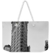 Flat Iron In Black And White Weekender Tote Bag by Bill Cannon