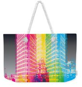 Flat Iron Pop Art Weekender Tote Bag by Gary Grayson