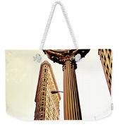 Flatiron Building And 5th Avenue Clock Weekender Tote Bag