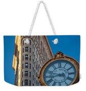 Flatiron Clock Weekender Tote Bag