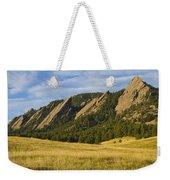 Flatiron Morning Light Boulder Colorado Weekender Tote Bag