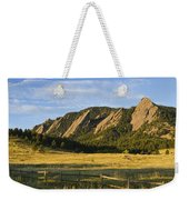 Flatirons From Chautauqua Park Weekender Tote Bag by James BO  Insogna