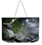 Fleeing The Coming Storm Weekender Tote Bag