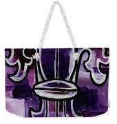 Fleur De Lis Purple Abstract Weekender Tote Bag