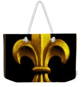 Fleur De Lis In Black And Gold Weekender Tote Bag