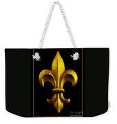 Fleur De Lis In Black And Gold Weekender Tote Bag