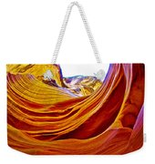 Flexibility Rock In Lower Antelope Canyon Near Page-arizona  Weekender Tote Bag