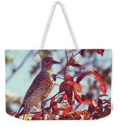 Flicker In Autumn Weekender Tote Bag