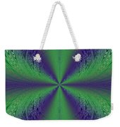 Flight Of Fancy Fractal In Green And Purple Weekender Tote Bag