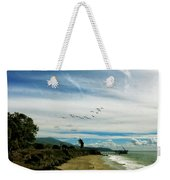 Flight Of Pelicans Weekender Tote Bag