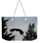 Flight Of The Black Crow Weekender Tote Bag