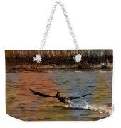 Flight Of The Pelican-featured In Wildlife-newbies And Comfortable Art Groups Weekender Tote Bag