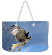Flight Of The Red Tail Weekender Tote Bag