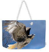 Flight Of The Red Tail Square Weekender Tote Bag by Bill Wakeley