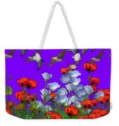 Flight Over Poppies Weekender Tote Bag