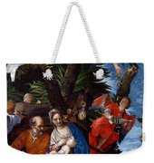 Flight To Egypt With Angels Weekender Tote Bag