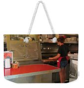 Flippin Burgers In The Diner Weekender Tote Bag