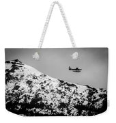 Float Plane Over The Mountain Weekender Tote Bag