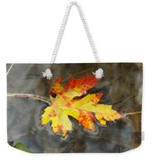 Floating Autumn Leaf Weekender Tote Bag