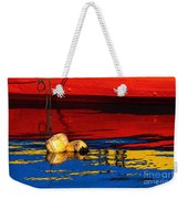 Floating Buoys And Reflections Weekender Tote Bag