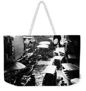 Floating Markets In Black And White Weekender Tote Bag