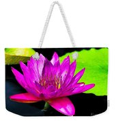 Floating Purple Water Lily Weekender Tote Bag